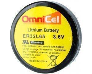 OmniCel ER32L65 3.6V 1Ah Size 1/10D Lithium Battery Nickel Pins