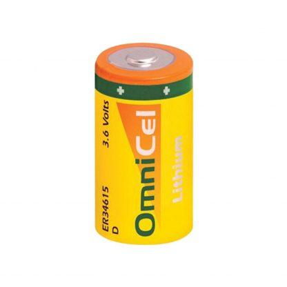 OmniCel ER34615 3.6V 19Ah Size D Lithium Button Top Battery