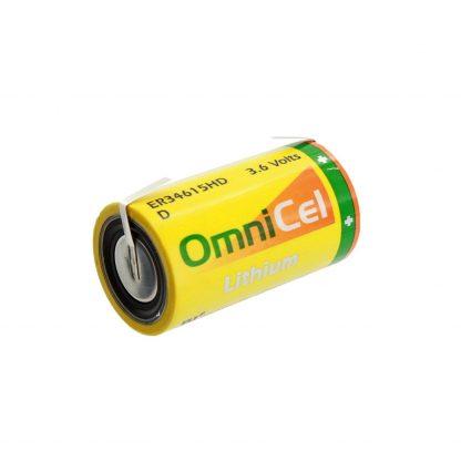 OmniCel ER34615HD 3.6V 13Ah Size D Lithium Battery with Tabs