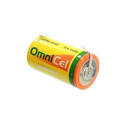 OmniCel ER34615HD 3.6V 13Ah Size D Lithium Battery with Tabs by Omnicel