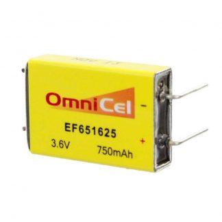 OmniCel ER651625 3.6V 750mAh Prismatic Lithium Battery BL-7PN Replaces LTC-7PN-S2, EF651625-S2, BiPower BL-7PN-S2, Eagle Picher LTC-7PN-S2, Keeper II LTC-7PN-S2, Ef651625-S2, EF651625-S2