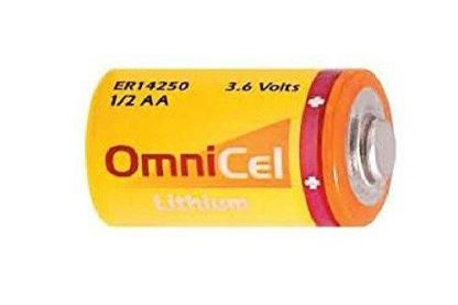 Omnicel ER14250 (LS14250) 1/2 AA 3.6 Volt Primary Lithium Battery (1200 mAh)