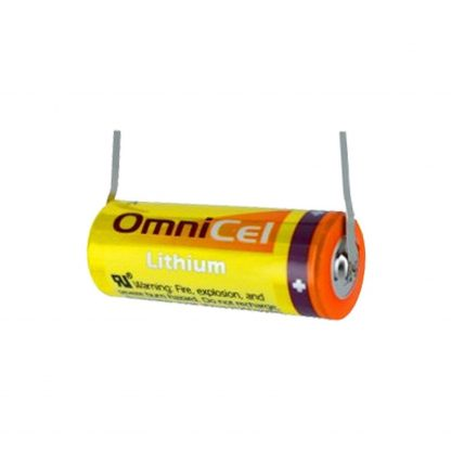 Omnicel ER18505 3.6V 3.8Ah Size A Lithium Battery with Tabs Replaces Saft LS17500, Maxell ER17/50, Xeno XL-100F For use with Industrial PC, Computer RAM, CMOS Circuit memory backup power