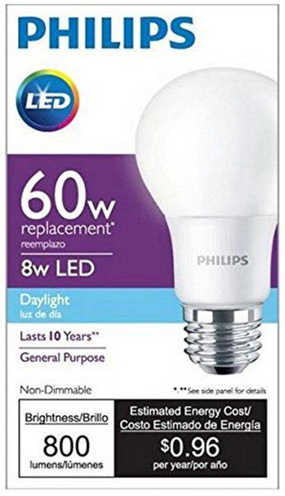 Philips 60 Watt Equivalent A19 LED Light Bulb