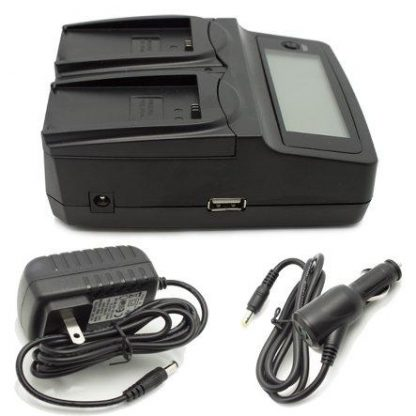 PhotoPro Dual Charger for Canon LP-E5 Camera Batteries - Works with Canon EOS Rebel Xsi, XS, T1i EF-S, EOS Kiss X2, Xsi, 500D, 450D, 1000D, Digital Rebel XS Digital Cameras