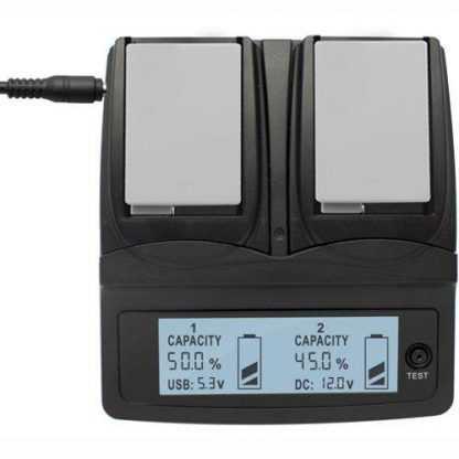 PhotoPro Dual Charger for Canon LP-E8 Camera Batteries - Works with Canon EOS 550D, EOS Kiss X4, EOS Rebel T2i, T3i Digital Cameras - Intelligent, Super-fast Charger with 2 Independent Charging Bays, LCD Readout, Battery Tester, USB Output, Car Charger and UL Approved Wall Charger