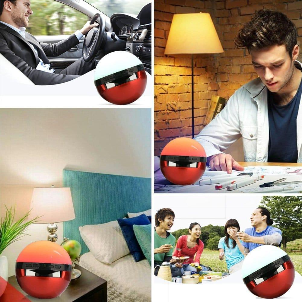 Pokemon Go Bluetooth Speaker with Colorful Flashing, Mini Portable Pokeball Wireless Speaker with Built-in Microphone