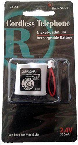 Radio Shack 23-954 Cordless Phone Battery Ni-CD 2-1/2 AA w/Connector, 2.4 Volt, 350 mAh - Ultra Hi-Capacity - Replacement for Sony BP-T21, Toshiba RC-004288, Uniden BT-801 Rechargeable Battery