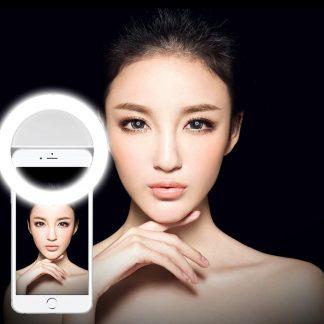 Brilite Selfie Ring Light for iPhone 7/7 plus/6/6 plus/6s/6 plus/5s/5/Samsung Galaxy S7/S7 Edge/S6 Edge/S6/S5/S4/S3, Galaxy Note 5/4/3, Xperia 36 LED