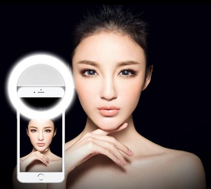 Brilite Selfie Ring Light for iPhone 7/7 plus/6/6 plus/6s/6 plus/5s/5/Samsung Galaxy S7/S7 Edge/S6 Edge/S6/S5/S4/S3, Galaxy Note 5/4/3, Xperia 36 LED