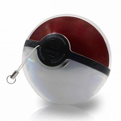 Third Pokemon Go 12000mAh Poke Ball Power Bank USB LED External Battery Charger