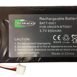 UL001 - Li-Ion, 3.6 Volt, 900 mAh, Ultra Hi-Capacity Battery - Replacement Battery for Uniden BT-001, BBTY0531001 fits DX770, DMX-776 Cordless Phone Battery