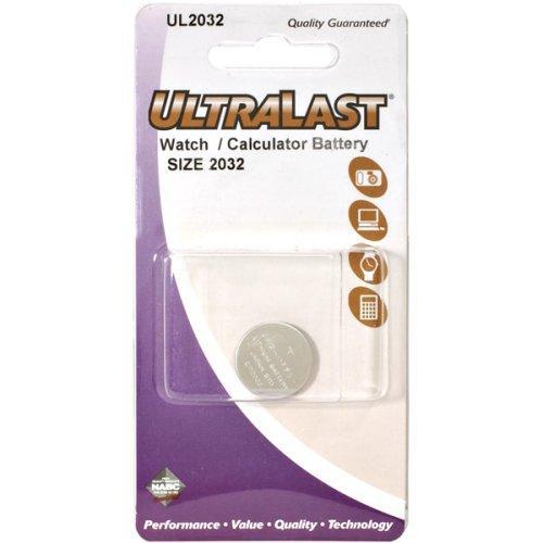 ULTRALAST UL2032 Lithium Button Battery