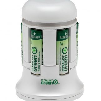 UltraLast Green 4AA/AAA Lunar Charger with 4 AA Everyday Precharged Batteries