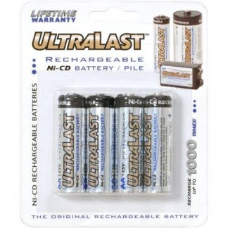Ultralast AA Rechargeable NiCd Battery Retail Pack - 4 Pack