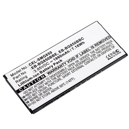 Ultralast CEL-SMG850 Lithium Ion (ICR/CGR/LIR), Lithium 3.85 Volts Cell Phone Battery