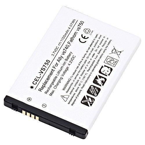 Ultralast CEL-VS750 Cell Phone, PDA Lithium, Lithium Ion (ICR/CGR/LIR) V: 3.7 Battery