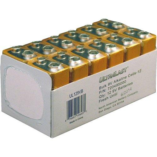 Ultralast UL129VB 9V Alkaline Battery, 12 Pack