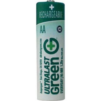 Ultralast ULGED4AA AA Green Precharged Ready-to-Use Rechargeable Batteries - 4 Pack