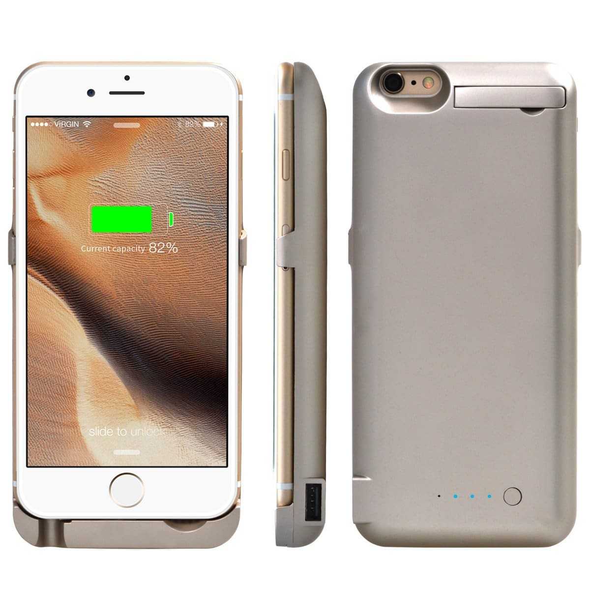 Iphone 6 Plus 6s Battery Case 3500mah Rechargeable Backup Led